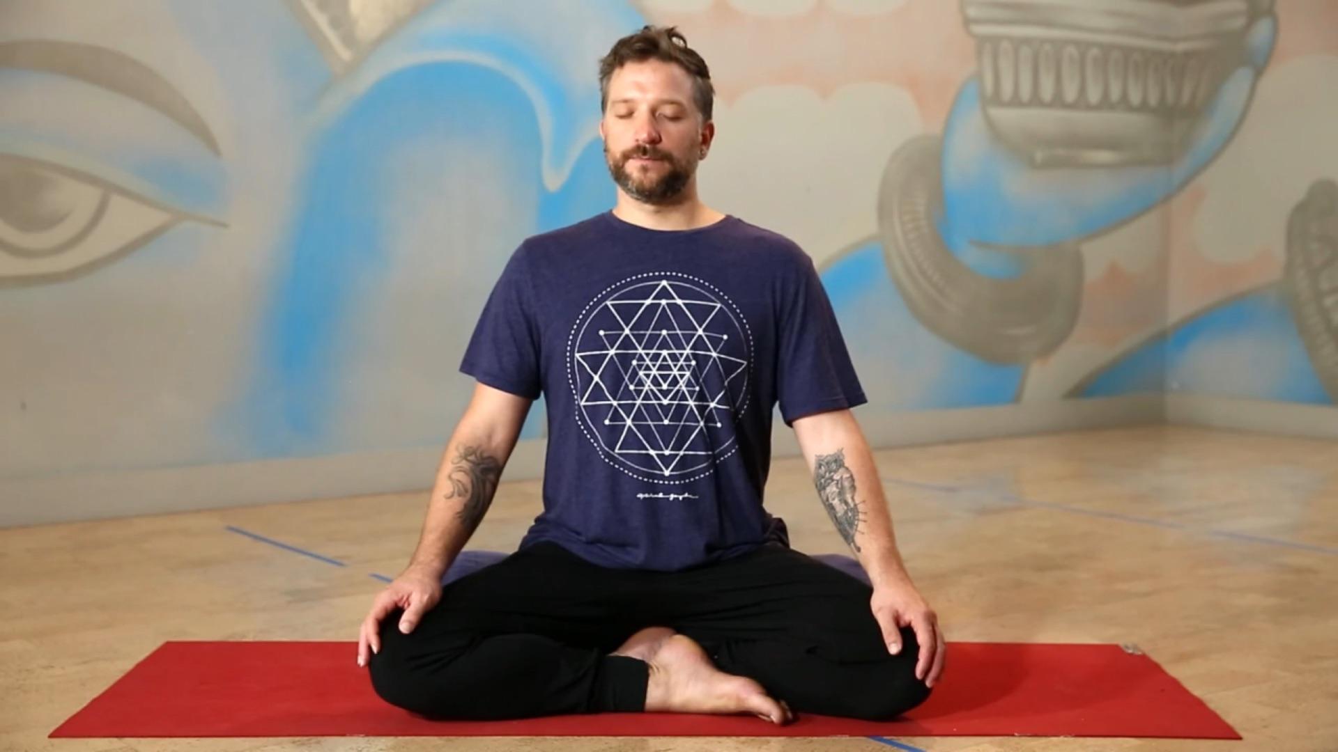 Third eye meditation Adam Whiting Power Living Australia Yoga YOGAHOLICS